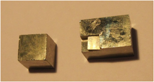 Photo de cubes de pyrite